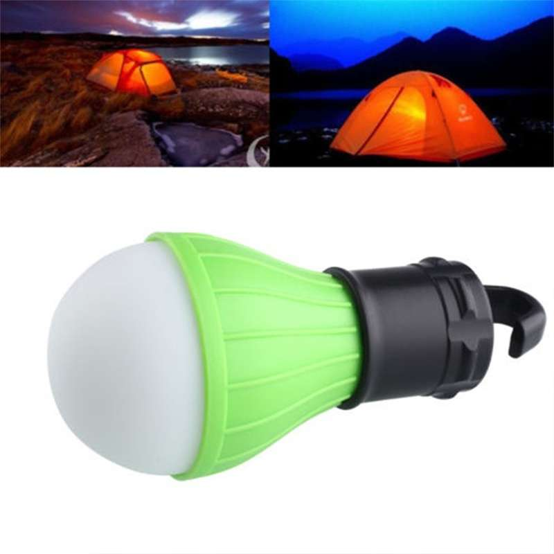 Portable Hanging 3 LED Camping Tent Light Bulb Fishing Lantern Lamp Torch-3