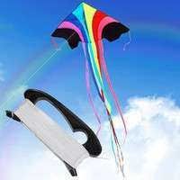 XvLF-100m Flying Kite Line String With D Shape Winder Handle Board Outdoor Kite Tool