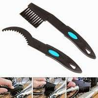 XyFv-New Cycling Bike Bicycle Chain Cleaning Clean Brush Set Tool Outdoor Sports  Black