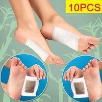 YNsK-10pcs New In Box Herbal Detox Foot Pads 10 Detoxification Cleansing Patches
