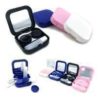 YZJ7-4 Colors Portable Travel Contact Lens Case Kit Set Storage Box Container W/Mirror Box Set
