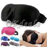 YdhF-3D EYE MASK TRAVEL SLEEPING SOFT COVER SHADE BLINDFOLD SPONGE BLINDER EYE PATCH