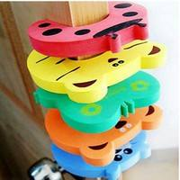 YgVP-5pc Animal Cartoon Safety Baby Kid Toddler Door Stopper Finger Pinch Guard