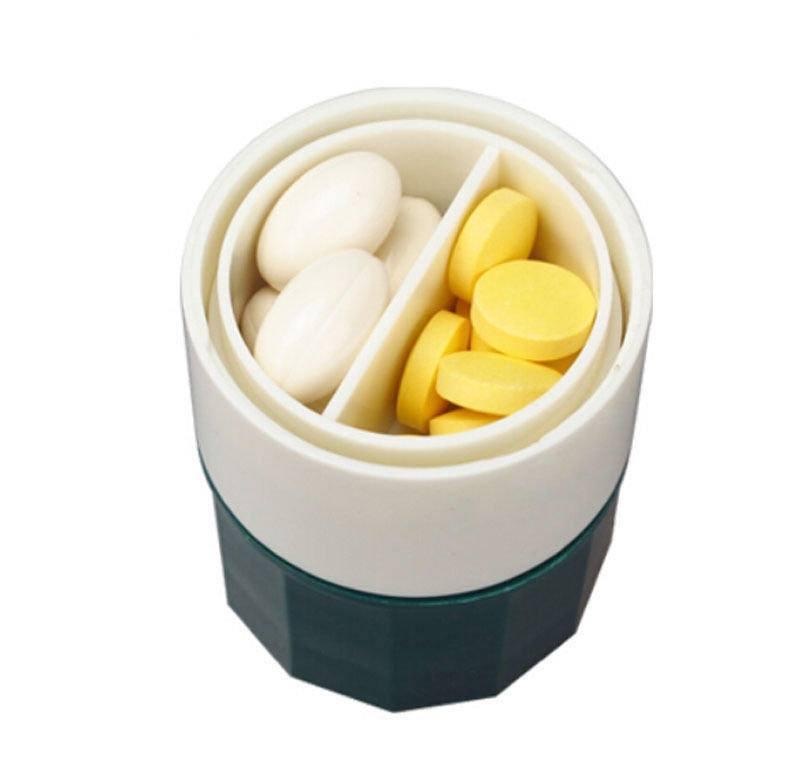 e93b264afd1c s2netYjNA | Pill Medicine Crusher Grinder Splitter Tablet Divider Cutter  Storage Box 4 Layer