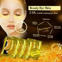 Ynnf-5 PCS Crystal 24k Gold Powder Gel Collagen Anti-Aging Wrinkle Eliminates Dark Circles Eye Mask