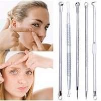 Yv79-5 Pcs/set Extractor  Pimple Blemish Comedown Acne Extractor Remover Tool Needles Set