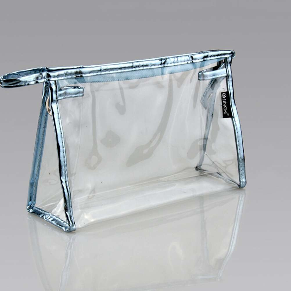 Clear Transparent Plastic PVC Travel Cosmetic Make Up Toiletry Bag Pouch-2