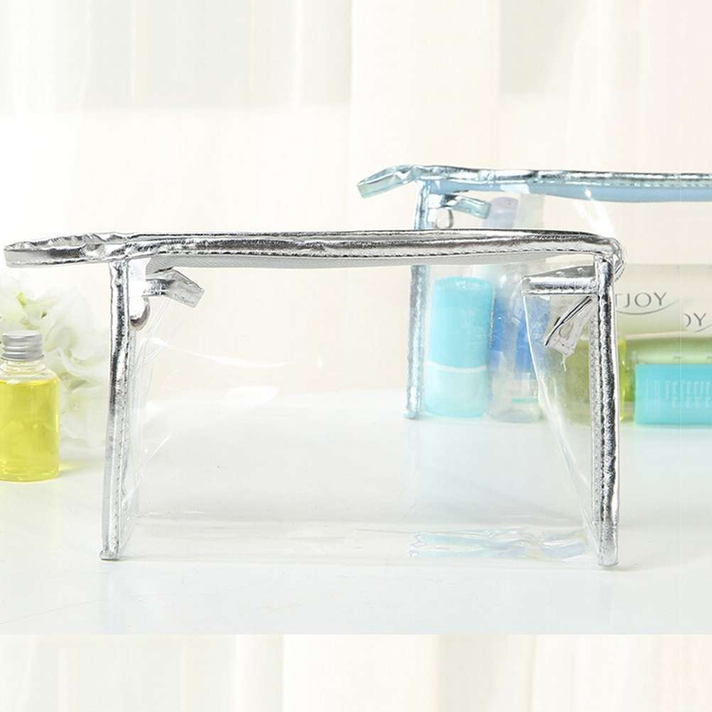 Clear Transparent Plastic PVC Travel Cosmetic Make Up Toiletry Bag Pouch-6