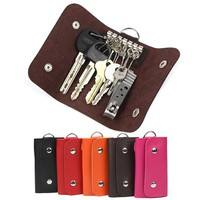 bVBo-Key Wallets Women And Men Faux Leather Keychain Holder Bag Purse