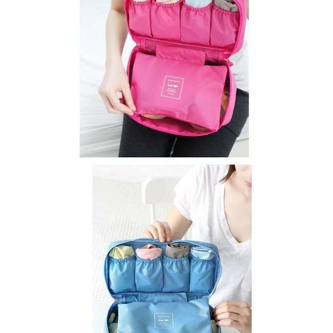 Waterproof Hygienic Travel Bag Underwear Pouch Bra Holder Storage Bag-5