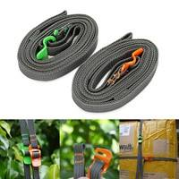 bbk7-Outdoor Travel Strapping Cord Tape Rope Tied Pull Luggage Stainless Hook
