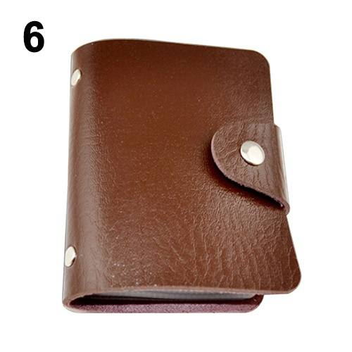 Leather Bags Pocket Business ID Credit Card Organizer Wallet Holder Case for 24 Cards-1