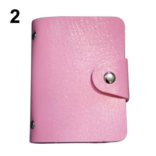 Leather Bags Pocket Business ID Credit Card Organizer Wallet Holder Case for 24 Cards-4