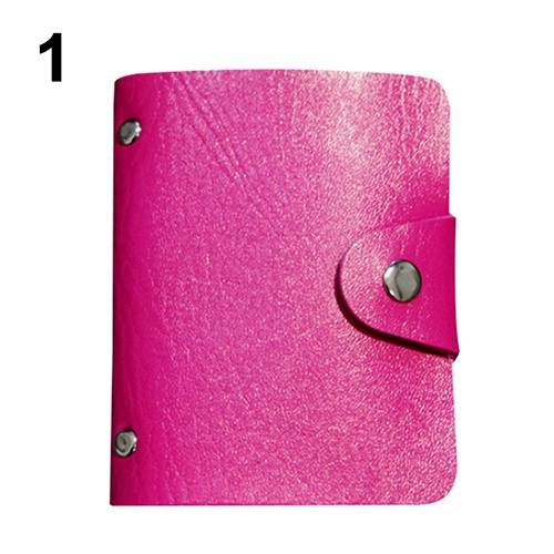 Leather Bags Pocket Business ID Credit Card Organizer Wallet Holder Case for 24 Cards-5