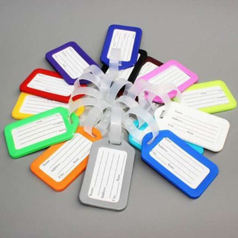 5 pcs Travel Luggage Bag Tag Name Address ID Label Plastic Suitcase Baggage Tags Hot