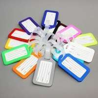 boEQ-5 Pcs Travel Luggage Bag Tag Name Address ID Label Plastic Suitcase Baggage Tags Hot