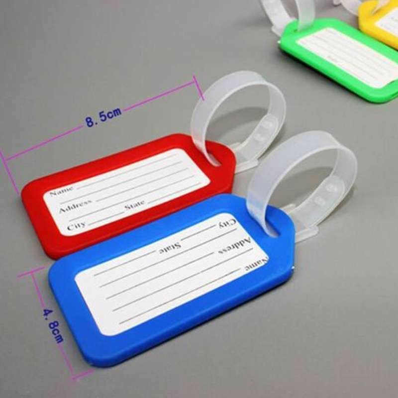 5 pcs Travel Luggage Bag Tag Name Address ID Label Plastic Suitcase Baggage Tags Hot-2