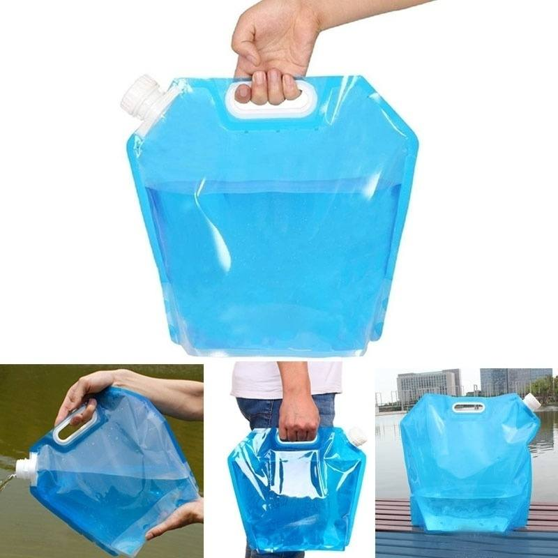 5L Portable Folding Water Storage Lifting Bag Camping Hiking Survival Kit Tool