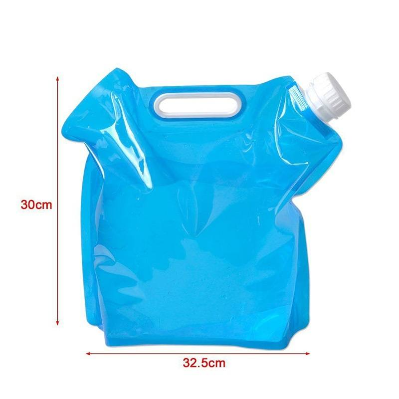 5L Portable Folding Water Storage Lifting Bag Camping Hiking Survival Kit Tool-1