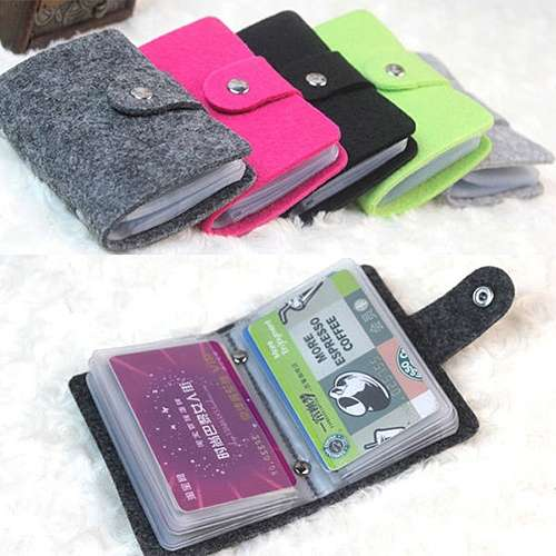 Women Pouch ID Credit Card Wallet Organizer Case Box Pocket Card Holder
