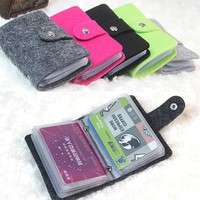 bzu3-Women Pouch ID Credit Card Wallet Organizer Case Box Pocket Card Holder