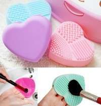 cFj2-New Heart Cleaning Glove Makeup Washing Brush Scrubber Board Cosmetic Best Gifts