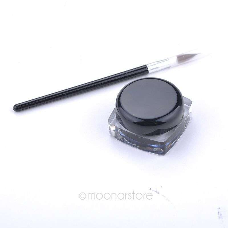 New 2014 Black Waterproof Eye Liner Eyeliner Gel Makeup Cosmetic + Brush Makeup