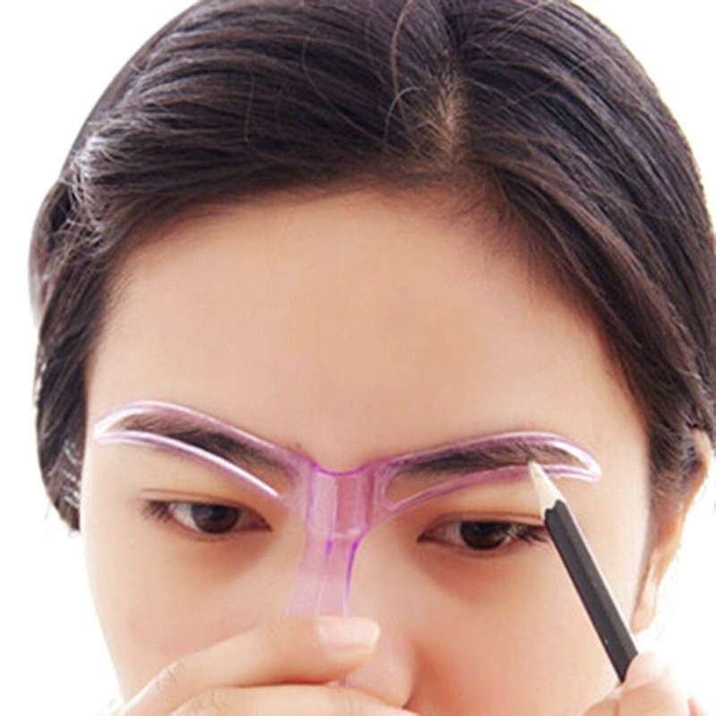 1pcs Professional Beauty Tool Women Makeup Grooming Drawing Blacken Eyebrow Template