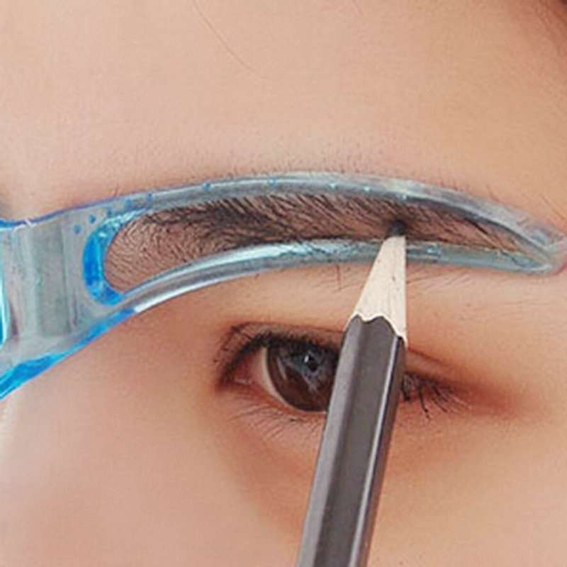 1pcs Professional Beauty Tool Women Makeup Grooming Drawing Blacken Eyebrow Template-1