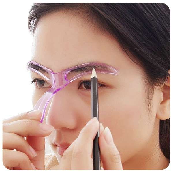 1pcs Professional Beauty Tool Women Makeup Grooming Drawing Blacken Eyebrow Template-11