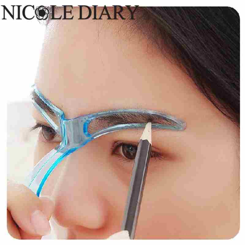 1pcs Professional Beauty Tool Women Makeup Grooming Drawing Blacken Eyebrow Template-12