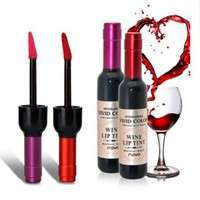 ciEp-Bottle Of Red Wine Lipstick Waterproof Liquid Lipstick Easy To Wear Non-stick Lipgloss