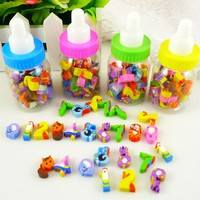 e4dS-25Pcs Cartoon Number Animals Pencil Rubber Eraser Children Novelty Lovely Toy