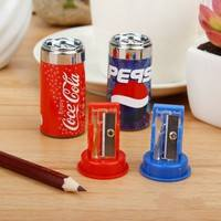 eG5S-Cute Cola Style Pencil Sharpener Eraser Combination Stationary Office School Supplies
