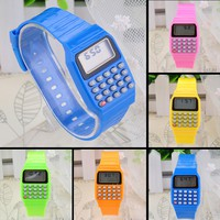 eRCS-Children Kids Boys Girls Silicone Date Multi Purpose Electronic Calculator Watch