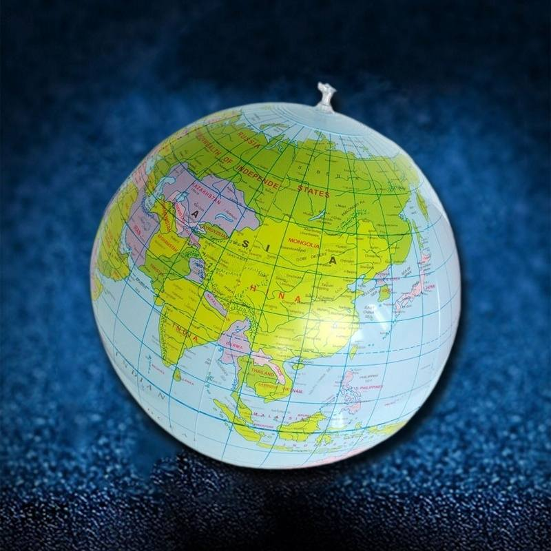 40cm inflatable world globe teach education geography toy map balloon beach ball color multi color