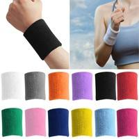 fP6U-Colorful Unisex Sport Wristband Sport Line Cotton Tennis Basketball Fitness Wrist Sweat Bands Terry Cloth Sweatbands