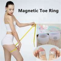 flUy-2pcs Keep Slimming Silicone Fitness Magnetic Toe Ring Weight Lossing Health Care Foot Massage