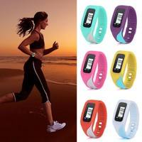 fpC7-Digital LCD Pedometer Run Step Walking Distance Calorie Counter Watch Bracelet