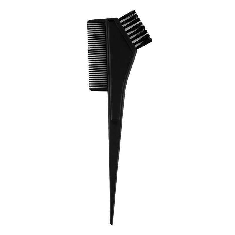 4pcs 1 Set Black Plastic Hair Dye Coloring Brush Comb Mixing Bowl ...