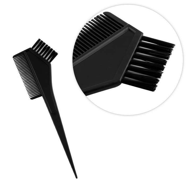 4pcs 1 Set Black Plastic Hair Dye Coloring Brush Comb Mixing Bowl Barber Salon Tint Hairdressing Styling Tools-7