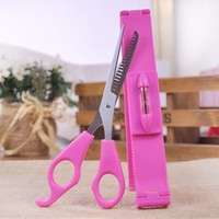 hODc-Pink Bangs Clipper Trimmer Set Self Hair Bangs Cutting Tool Haircuts