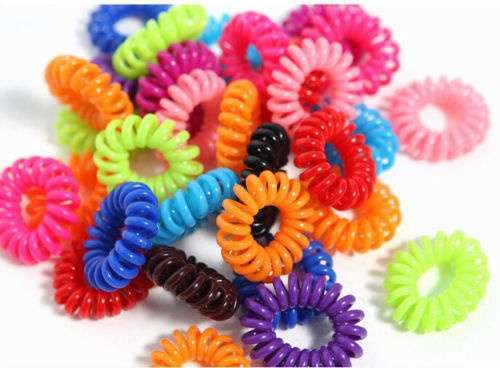 10 Pcs Girl Elastic Rubber Hairband Phone Wire Hair Tie Ring Rope Ponytail mk5 Color Multi color-3