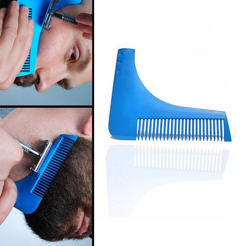 Beard Shaping Shaving Tool Comb for Perfect Lines & Symmetry-1