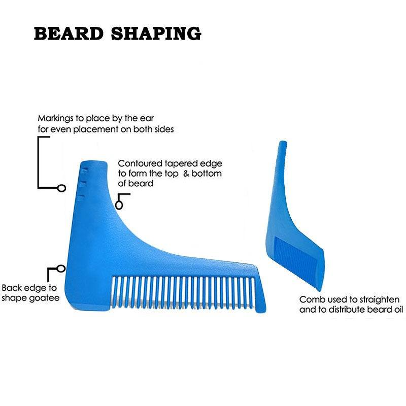 Beard Shaping Shaving Tool Comb for Perfect Lines & Symmetry-2