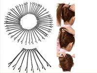 hnXf-60Pcs 1set Hair Clips Bobby Pins Invisible Curly Wavy Grips Salon Barrette Hairpin