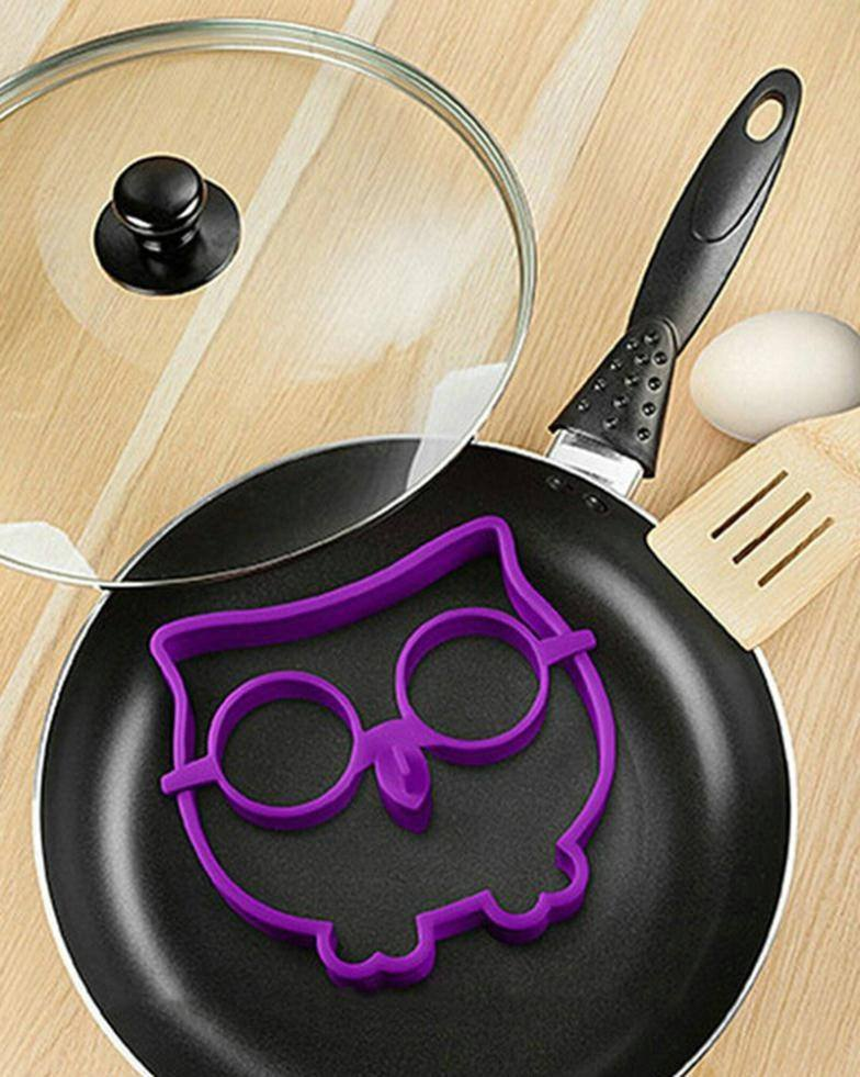 Breakfast Silicone Owl Fried Egg Mold Pancake Egg Ring Shaper Funny Cooking Tool-1