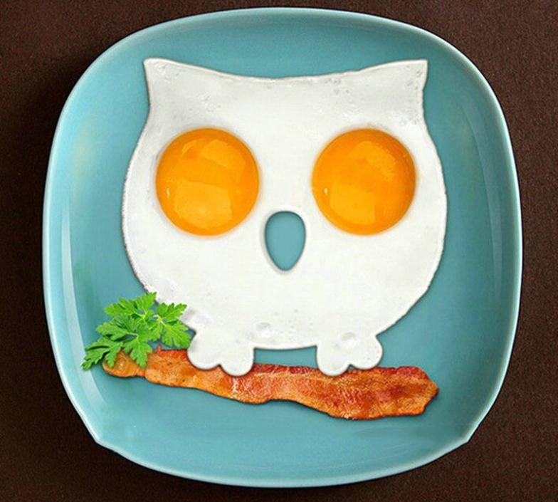 Breakfast Silicone Owl Fried Egg Mold Pancake Egg Ring Shaper Funny Cooking Tool-2