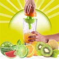 k3n7-Plastic Hand Manual Squeezer Orange Lemon Juice Press Squeezer Citrus Juicer