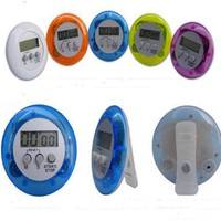 k3sX-Digital Magnetic LCD Stopwatch Timer Kitchen Racing Alarm Clock Stop Watch Egg With Battery